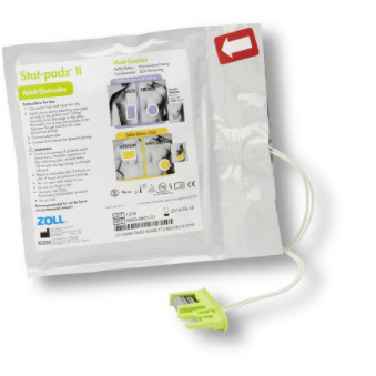 Stat-Padz® II Electrodes with Green AED Connector, Adult, 34in L Leadwire *Non-Returnable and Non-Cancelable*