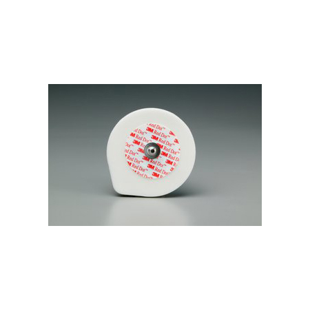 *Discontinued* Red Dot™ Foam Monitoring Solid Gel Electrodes with Abrader and Lift Tab, Adult, 2in Diameter Size