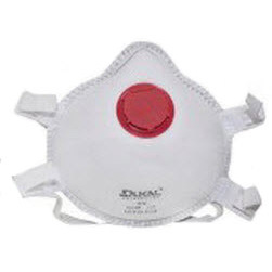 N95 Face Mask, White, With One-Way Valve