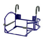 Ventilator Carrier with Oxygen Enclosure & Bed Rail System Brackets