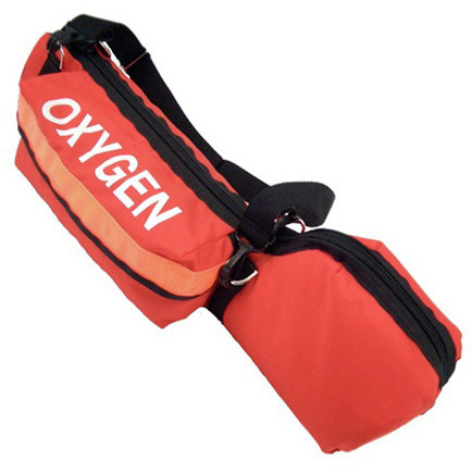 Portable Oxygen Cylinder Bag with Padded Head, 10-1/2in L x 3ft D x 4-1/2in H, Orange