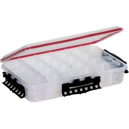 StowAway Waterproof Deep Utility Box, 14in L x 8.8in W x 3in H, Model 3700, Clear