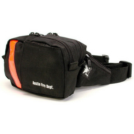 Utility Pack-2, 8in L x 5in H x 4in D, Black/Red, 2 Compartments, With Back Velcro Belt Loops
