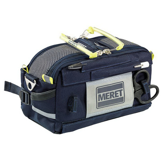 FIRST-IN™ PRO Sidepack, 7.25in x 12.5in x 5in, Blue, 1680/1200 Denier Coated TPE