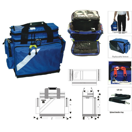 Deluxe Multi-Purpose Kit with Back Pocket, Royal Blue