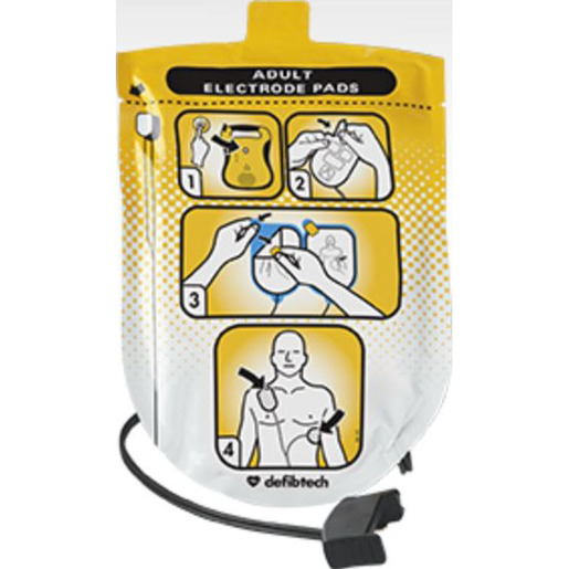 LifeLine™ Pre-connected Defibrillation Pads, Adult, 48in L Cable, Non-polarized *Non-Returnable and Non-Cancelable*