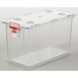 Tamper Evident Box with Lid, Large, 4in H x 7in W x 3-11/16in D, Clear