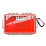 1040 Micro Series Protector Case™ Clear with Liner, Red