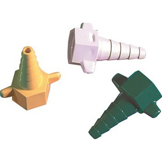 Oxygen Connector, 9/16in dia., Green, Plastic