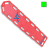 Pro-Lite® XT Spineboard, Neon Green, With Pins