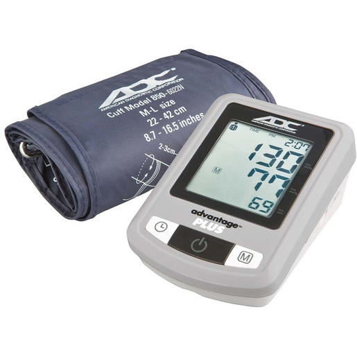 Advantage™ Plus 6022N Automatic Digital Blood Pressure Monitor, Navy, Wide Range 22 to 42cm