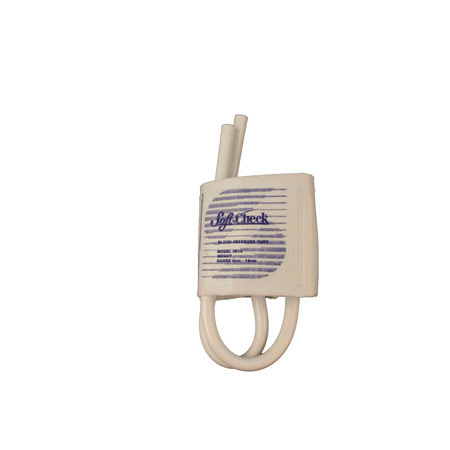 *Discontinued* SoftCheck® Fabric Disposable Blood Pressure Cuff with Double Tube No Fittings, Infant, 8 to 14cm