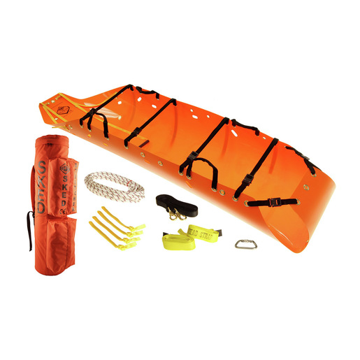 Sked® Basic Rescue System with Carry Case, 8in x 8in x 37in, International Orange