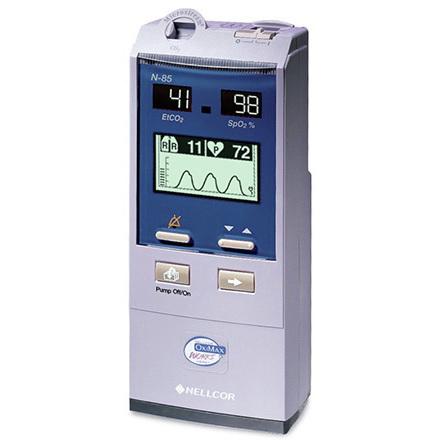 Nellcor™ Microcap® Plus Hand-Held Capnograph/Pulse Oximeter, EtCO2 and SpO2, 8.11in H x 3.46in W x 2.06in D