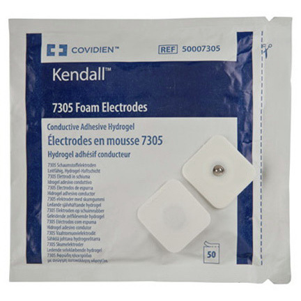 Kendall™ Biotac™ 7305 Series Foam Electrodes, Adult, 1 3/4in x 1 7/8in Size