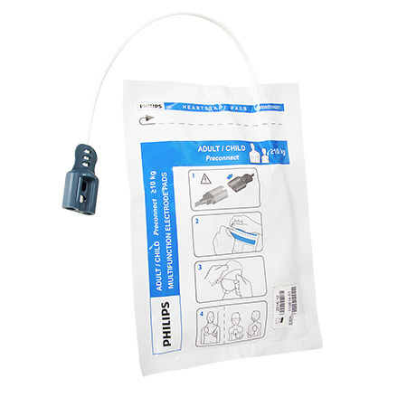 HeartStart® Preconnect Multi-function Defibrillation Electrode Pad, Child/Adult, Plug Style *Non-Returnable and Non-Cancelable*