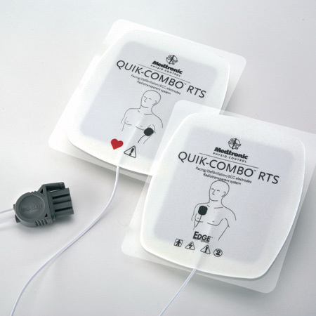 Edge System™ Quik Combo® RTS Electrodes, Adult, 24in L Leadwire *Non-Returnable and Non-Cancelable*