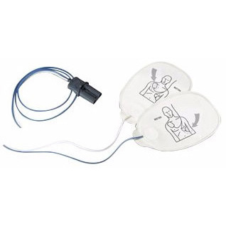 Multi-function Radiotransparent Electrode Pad, Child/Adult, 1.2m L Leadwire