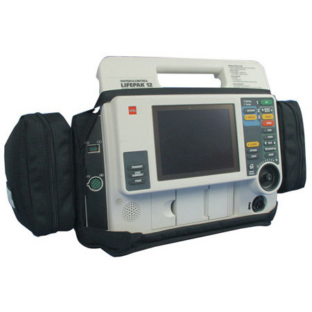 Lifepak 12 Defibrillator Case, Black