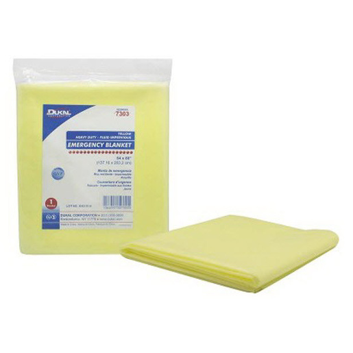 Fluid Impervious Emergency Blanket, Heavy Duty, 54in x 80in