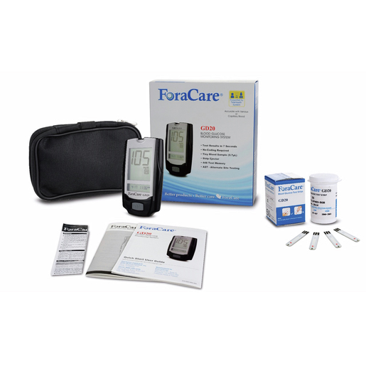 ForaCare® Blood Glucose Monitoring System *Free w/ Purchase of Test Strips 199995 or 2763-20550*
