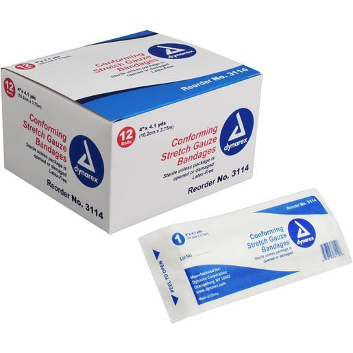 Dynarex Stretch Gauze Bandages, Sterile