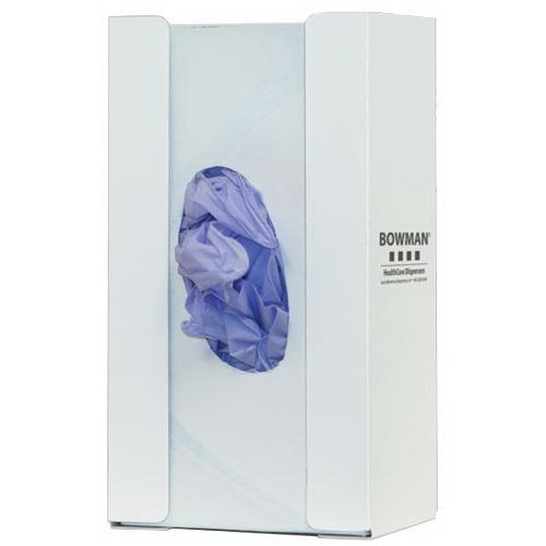 Glove Box Dispenser, 9.96 H x 5.5 W x 3.8in D, White, Powder-Coated Steel