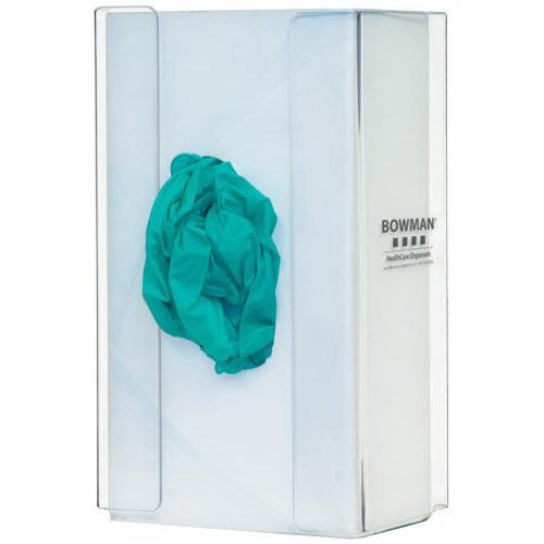 Glove Box Dispenser, 9.8 H x 5.7 W x 3.9in D, Clear, PETG Plastic