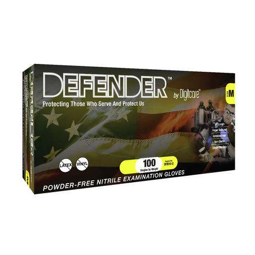 Defender™ Exam Gloves, Slate, 10in