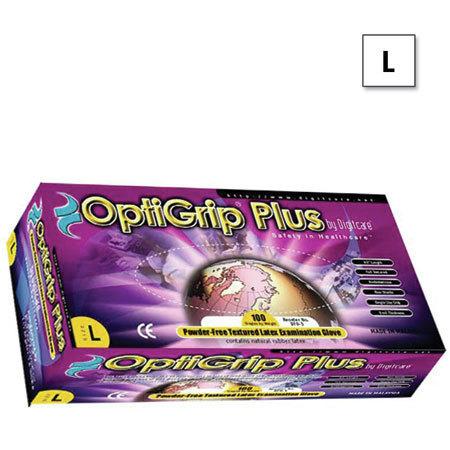 *Discontinued* OptiGrip® Plus Exam Gloves, 9-1/2in L, Large