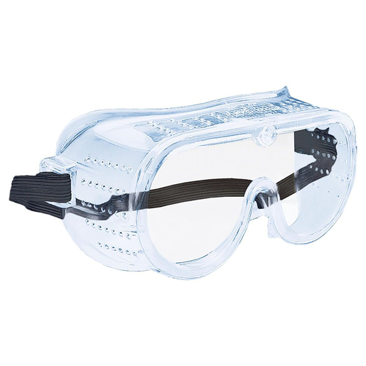 Ultra Soft Safety Goggles, Injection-Molded Lens, Perforated Side Walls