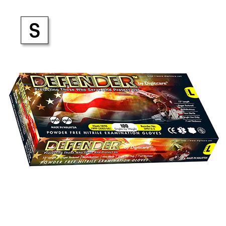 Defender™ Exam Gloves, Slate Blue, 12in