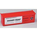 Safety Sharp-Trap Non-sterile Bio-Disposable Container, Red