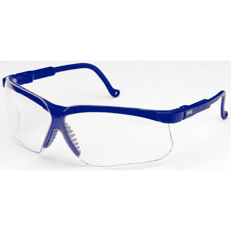 Genesis® Safety Glasses with Uvextreme Anti-Fog Coating, Blue Frame