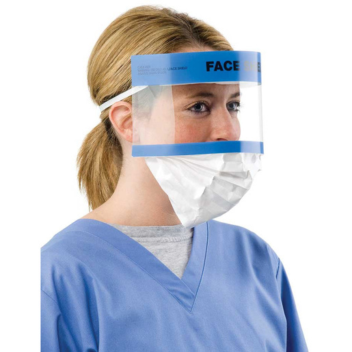 Face Shield with Retractable Splash Guard, 5in L x 13in W *Non-Returnable*