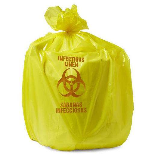 Biohazard Liner, Yellow, 41in L x 40in W