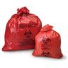 Biohazardous Waste Bag, Red with Black, 1 to 3gal, 11in x 14in, 1.5mil Gauge