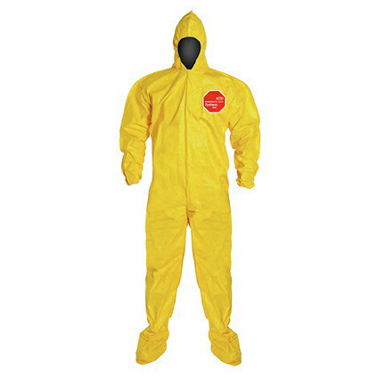 Tychem™ Standard Coverall, Medium, Yellow, DuPont™ Tychem™® 2000 *Non-Returnable*