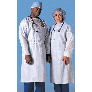 Staff Protection Gown, Unisex, White, Unisize *Non-Returnable*