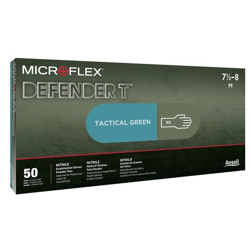 Defender™ T Nitrile Gloves, Olive Drab, 12in