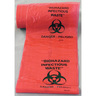 Biohazard Label, Black on Orange, 1in Round Size