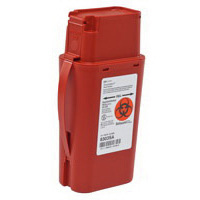 SharpSafety Transportable Sharp Container, 1qt, Red