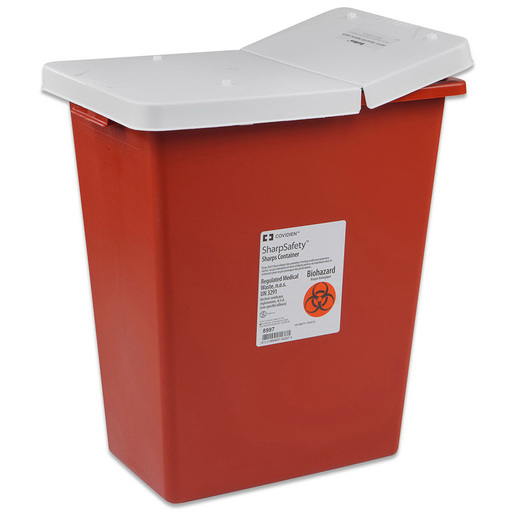 SharpSafety Large Volume Sharps Containers with Hinged Lid