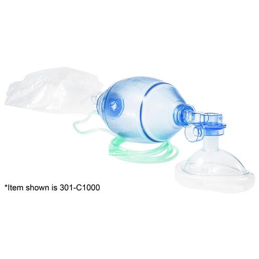 Curaplex® Select BVM, Small Adult, Mask Size 5, O2 Bag Reservoir, Tubing, 60CM H2O