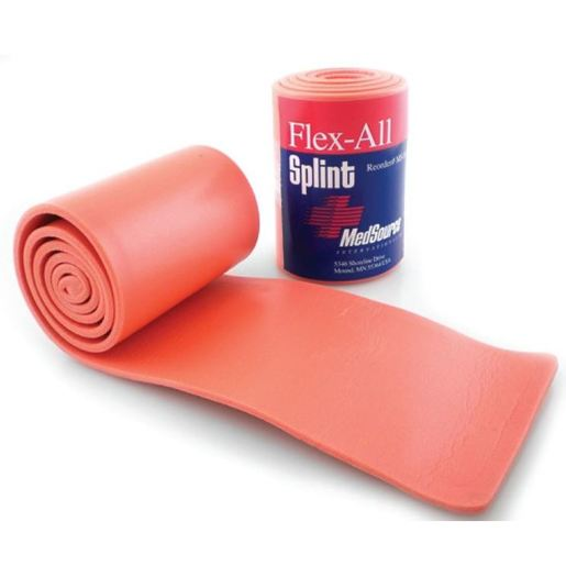 Flex-All Foam/Aluminum Splint, Orange, 36in L x 4in W, Flat Folded
