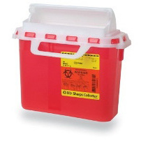 Recykleen Patient Room Sharps Collector, 5.4qt