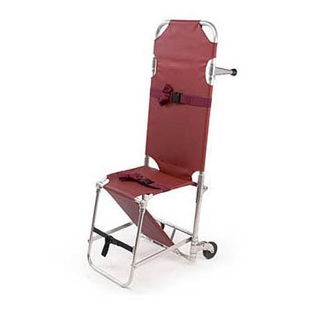 Model 107 Combination Stretcher Chair, 350lb, Burgundy