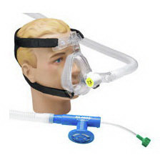 *Discontinued* O2-RESQ™ BiTrac ED™ Full Face Mask with Head Strap, CPAP 7. 5cm Valve, Adult Large
