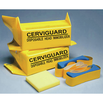 Cerviguard Head Immobilizer Block, Foam Strap