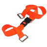 2-piece BioThane® G1 Cot Strap with Metal Push Button Buckle and Metal Loop Ends, 5ft L x 2in W, Orange